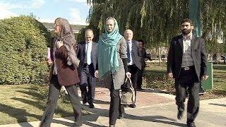 EU parliamentarians visiting Iran meet female MPs