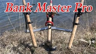 "Bank fishing rod holder: ""The Bank Master Pro"""