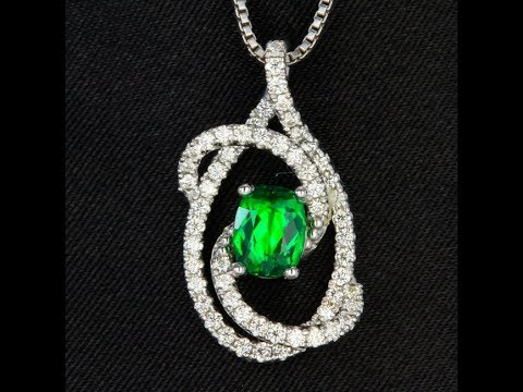 Tsavorite garnet pendant by christopher michael youtube tsavorite garnet pendant by christopher michael aloadofball