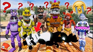 GUESS WHO KILLED PANDA FREDDY! ANIMATRONIC MYSTERY! (GTA 5 Mods For Kids FNAF RedHatter)