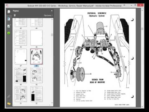 bobcat 444 500 600 610 series workshop service repair manual rh youtube com