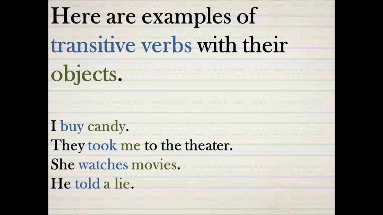 Esl Examples Of Transitive And Intransitive Verbs By Rich Damien