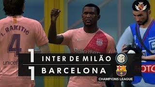 INTER DE MILÃO 1 x 1 BARCELONA NO FIFA 19 - CHAMPIONS LEAGUE | NARRAÇÃO DE JORGE IGGOR