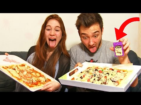 PIZZA AU VOMI ! - Pizza Challenge en Couple !!
