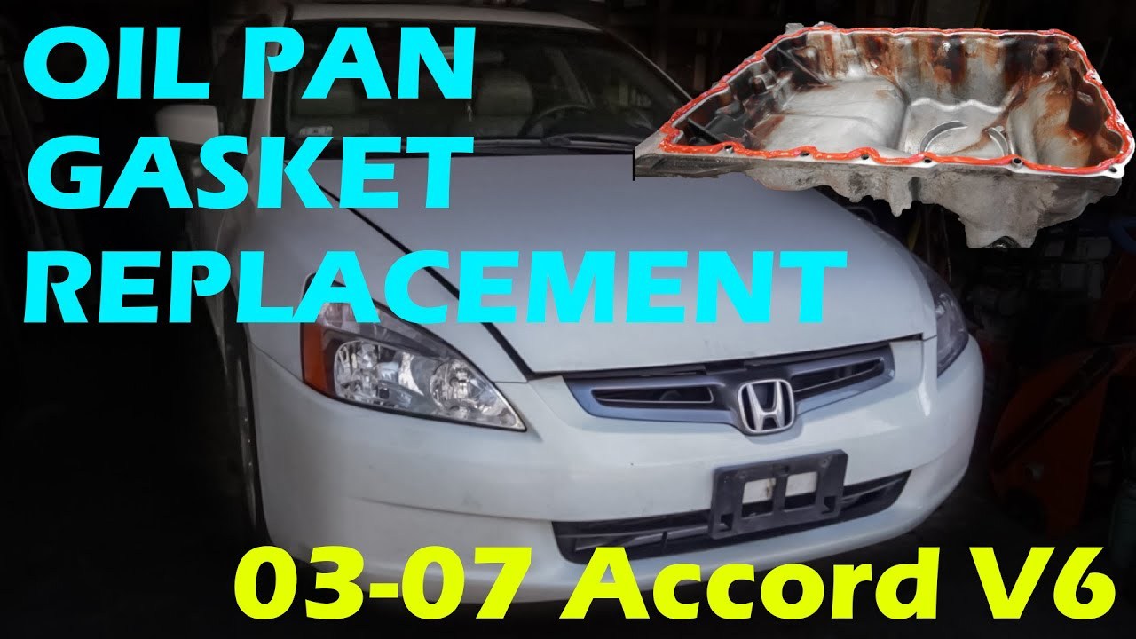 oil pan gasket replacement honda accord  youtube