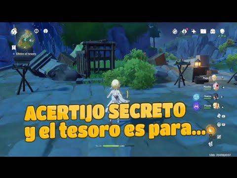 Acertijo Genshin Impact Misión Secreta Y El Tesoro Es Para Paso Lingju Tesoro Sin Nombre Youtube