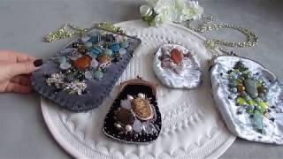 Сумочка с вышивкой фермуаром и жестким каркасом от Ксении