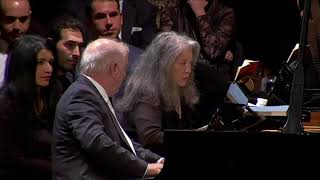 Barenboim & Argerich : Mozart Sonata for Two Pianos, K.448