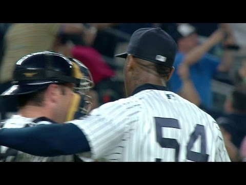 SF@NYY: Chapman sets down Belt, picks up 20th save