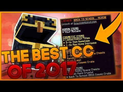 THE BEST COSMIC CRATE OF 2017??  CosmicPvP ICE Planet FACTIONS Season 5 #11