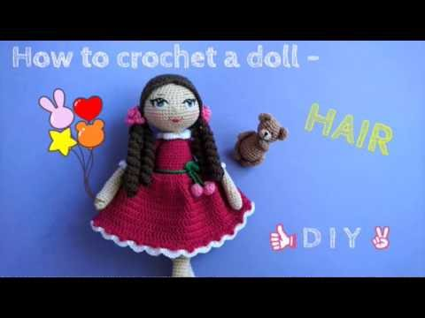 Papillon en papier: Amigurumi tips part 3 - dolls hair and eyes | 360x480