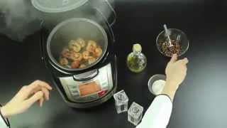 Обжаренные креветки в мультиварке REDMOND RMC M4502