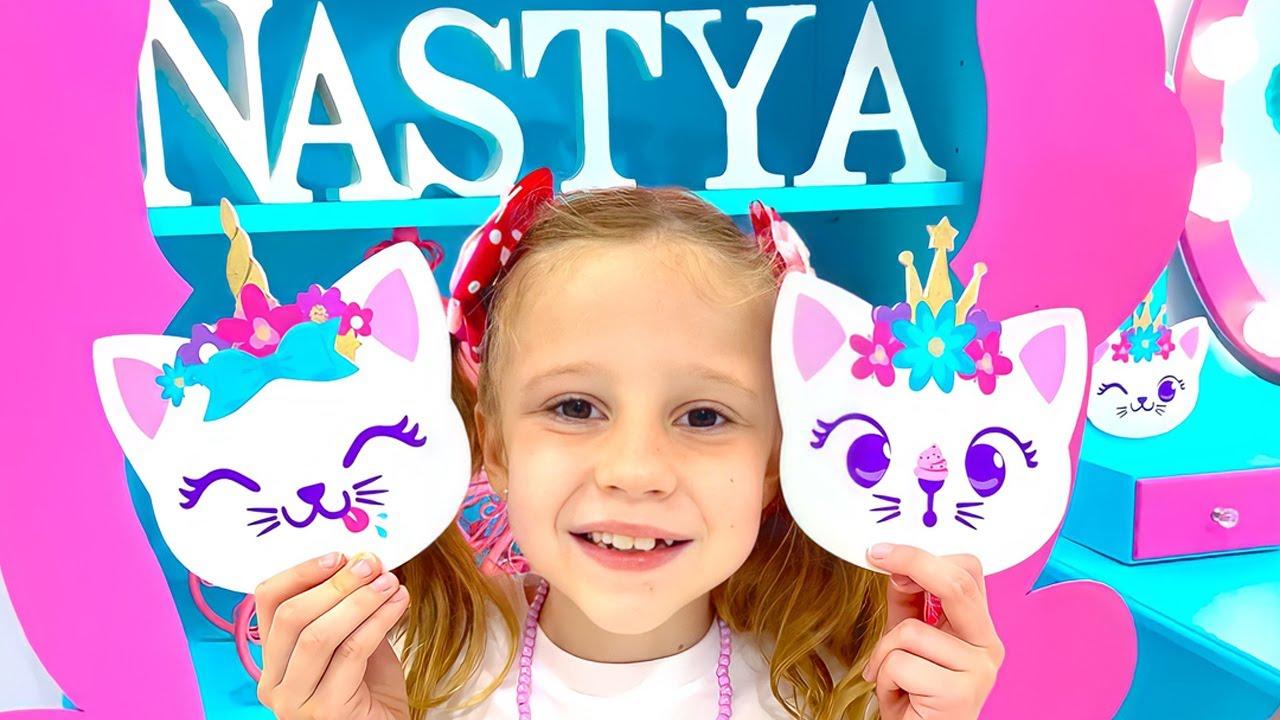Nastya and her DIY room for kids decor ideas. Room In Style Like Nastya