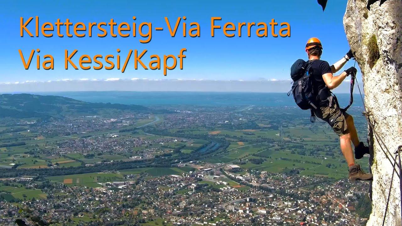 Klettersteig Via Kapf : Klettersteig via ferrata kessi kapf loch youtube