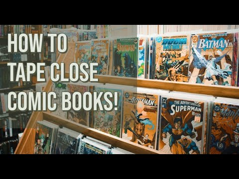 How To Tape Comic Book Bags, Poly & Mylar