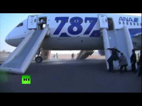 Video: Evacuation of Boeing 787 Dreamliner after emergency landing in Japan