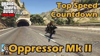 Fastest Motorcycles (Oppressor Mk II) - GTA 5 Best Fully Upgraded Bikes Top Speed Countdown