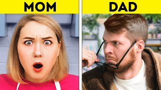 MOM VS. DAD || Funny Relatable Situations With Parents And Relatives