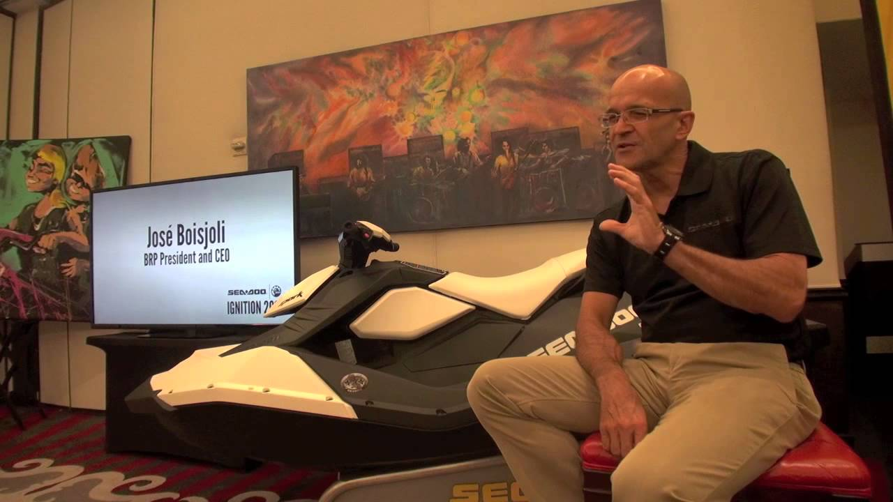 brp president and ceo, josé boisjoli: marketing plans for the new sea doo spark - youtube