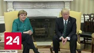 Трамп многое успел обсудить с Меркель на первой встрече