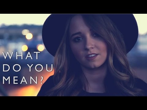 What Do You Mean - Justin Bieber   Cover by Ali Brustofski (Acoustic Music Video)