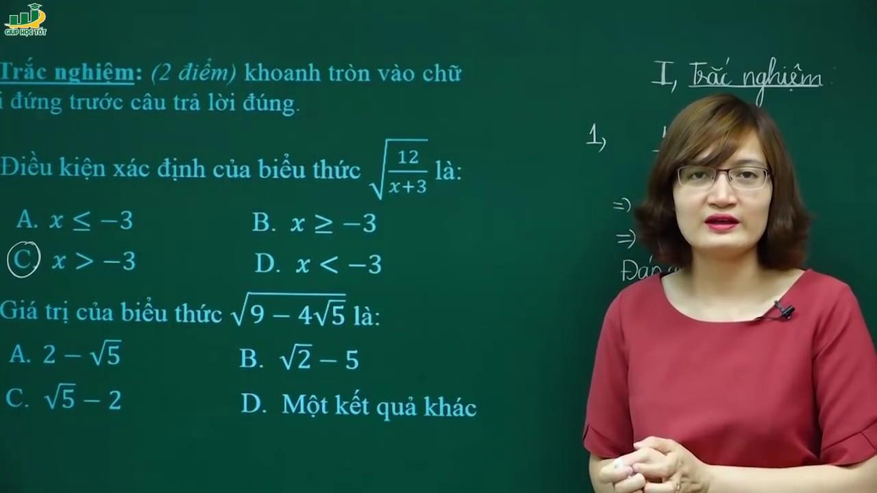 Toán Lớp 9 –  Đề thi kiểm tra khảo sát giữa học kì 1 môn toán lớp 9  (phần 1/3)
