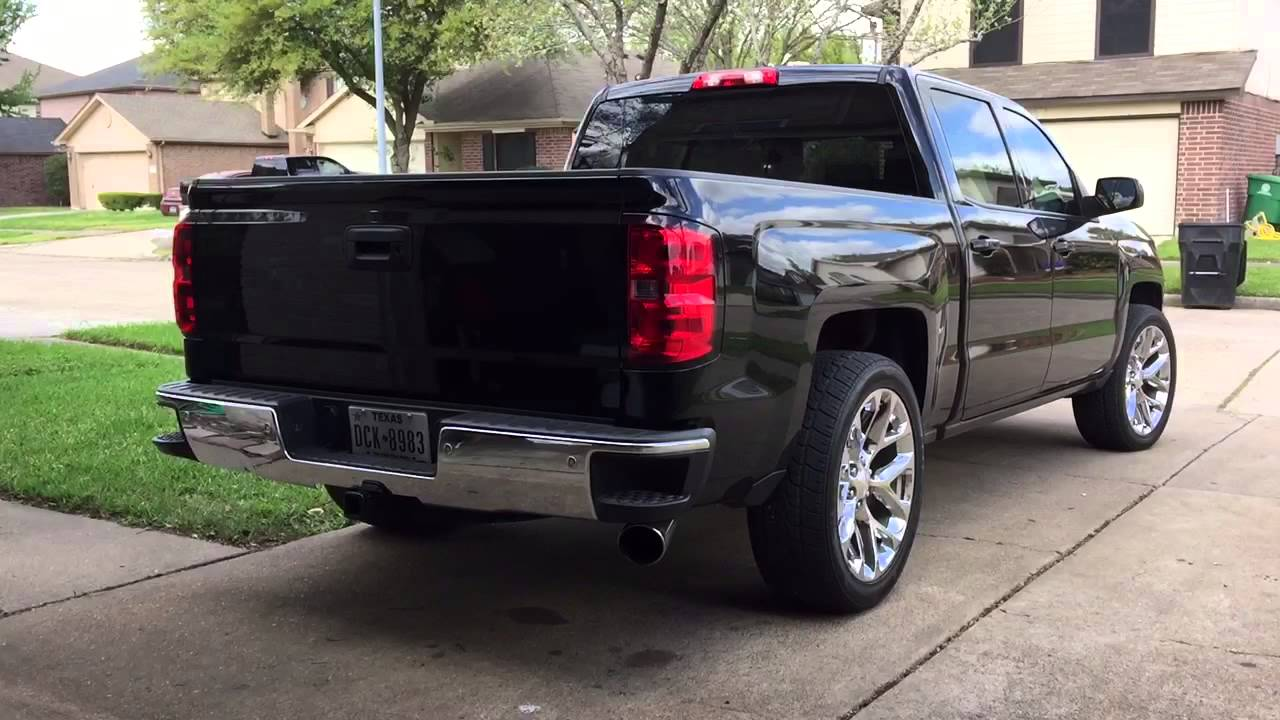 2014 Silverado With Black Widow Race Venom Muffler Youtube