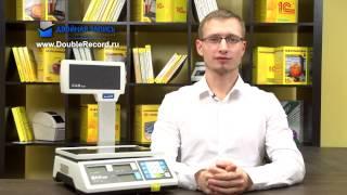 видео Торговые весы CAS LP 06/15/30 c печатью этикеток