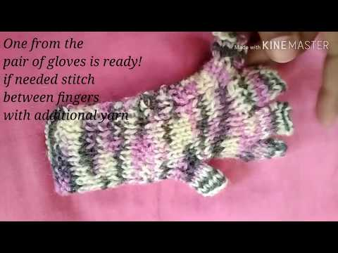Knitting Gloves With Two Needles