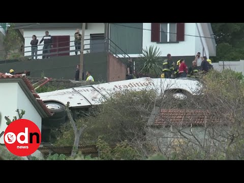 Several dead after tour bus crashes in Madeira