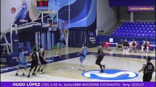 HUGO LÓPEZ ('03) 2.05 m. U18/Eba MOVISTAR ESTUDIANTES. Temp. 2020/21 #BasketCantera.TV