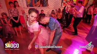 Valeriya Lebedeva and Andrey Bryukhovskikh Salsa Dancing at Rostov For Fun Fest 2018, Fri 02.11.2018