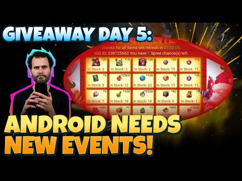 Android Needs New Event Rewards! Giveaway Castle CLash