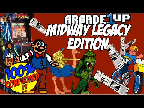 Just Revealed: Arcade 1Up Midway Legacy Edition Cabinet from moxxi