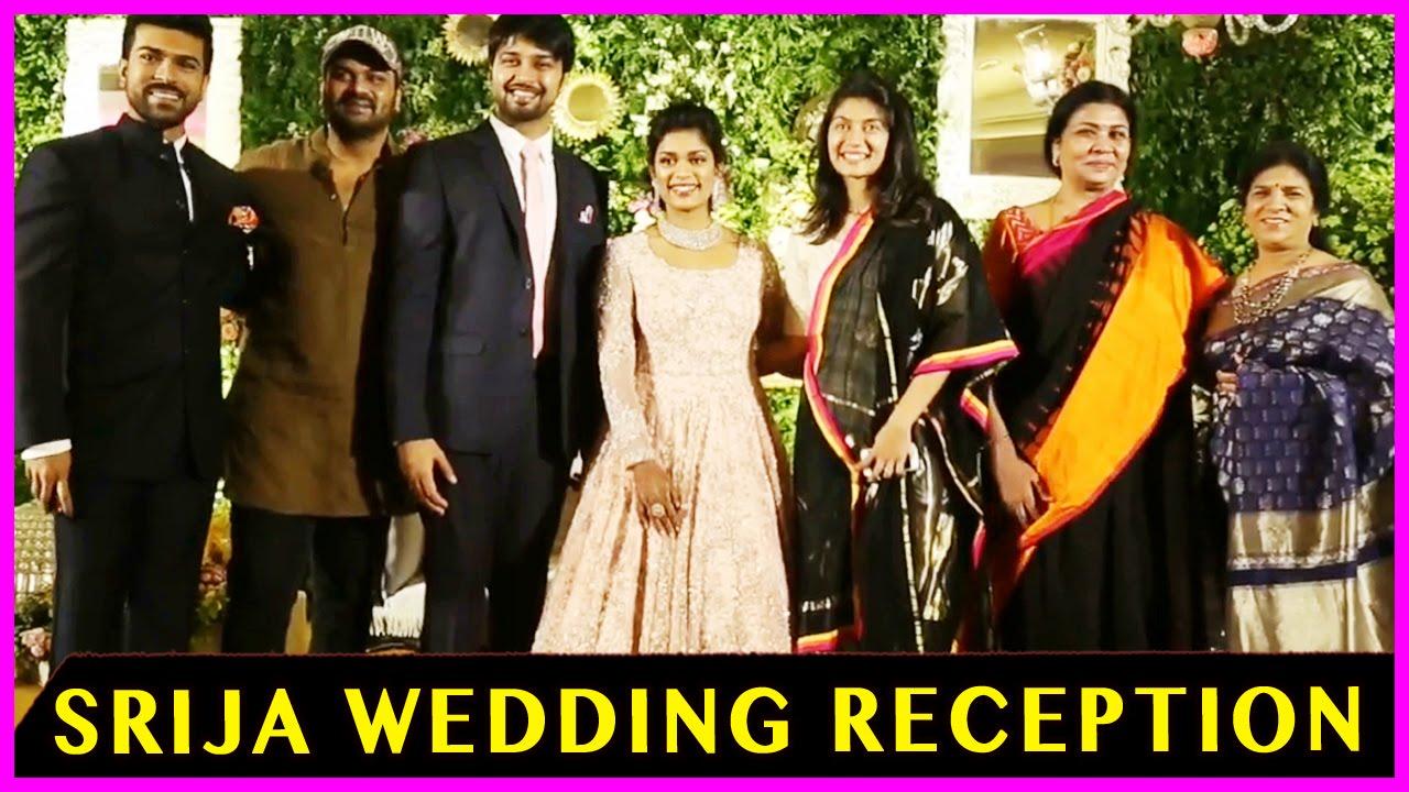 c6b57bc5b584 Sreeja - Kalyan Wedding Reception - Chiranjeevi