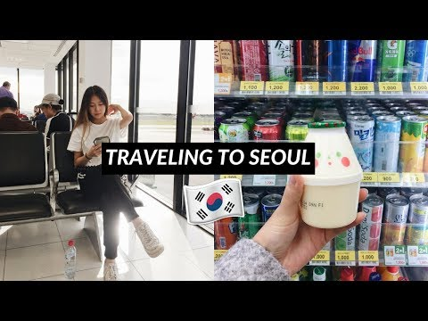 Flight to Seoul South Korea + loosing mum at Incheon Airport (Korea ep.1)