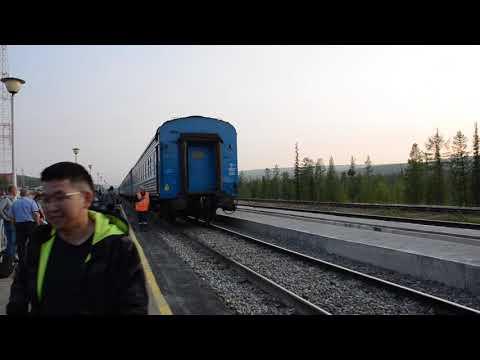 Соединение поездов Нижний Бестях - Томмот и Томмот - Нерюнгри