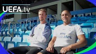 Roberto Carlos and Guti join Real Madrid for skills challenge