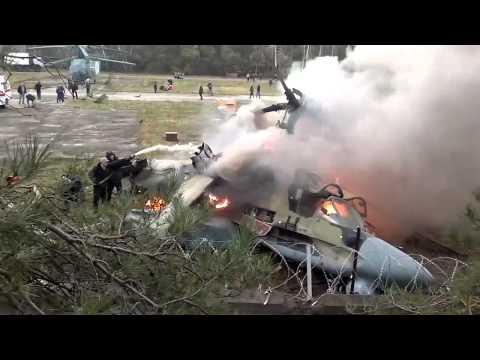 Арсеньев.NET - видео с места падения вертолёта Ка-52 Аллигатор в Жулебино