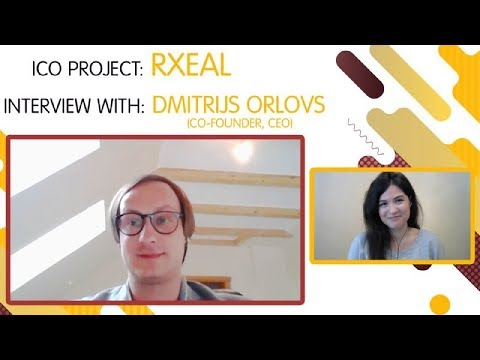 "ICO ""RXEAL"" interview with  Dmitrijs Orlovs [ENG][SUB: RU]"