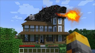 GIANT GODZILLA BEASTS APPEARS IN MY HOUSE IN MINECRAFT ! Minecraft Mods