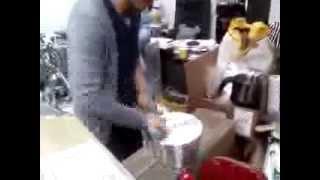 츄러스수동반죽기, manual mixer,밀가루 수동반…