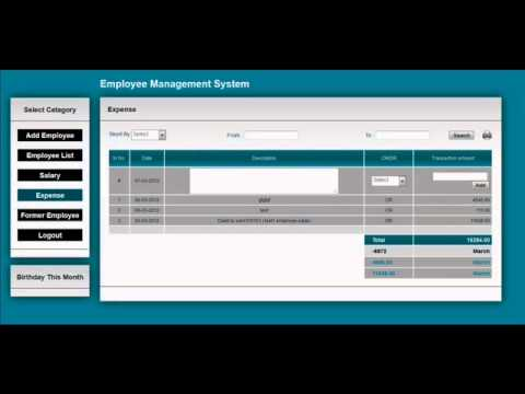 PHP based Employee Management System for Free. - YouTube