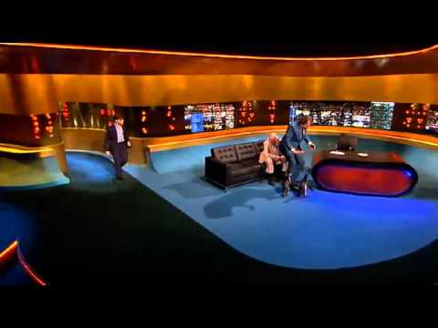 Daniel Radcliffe feeds penguins on The Jonathan Ross Show 21/01/12