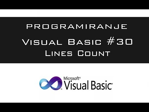 VISUAL BASIC | TUTORIAL #30 - Lines Count [HD 2016]