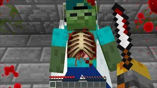 WHAT'S INSIDE MARK MY FRIENDLY ZOMBIE but WE ARE THE DOCTOR !! SURGERY ON A ZOMBIE !! Minecraft Mod