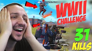 THOMPSON e *ARMA PERFECTA* in WWII CHALLENGE - 31 KILLS w/ THANOS -