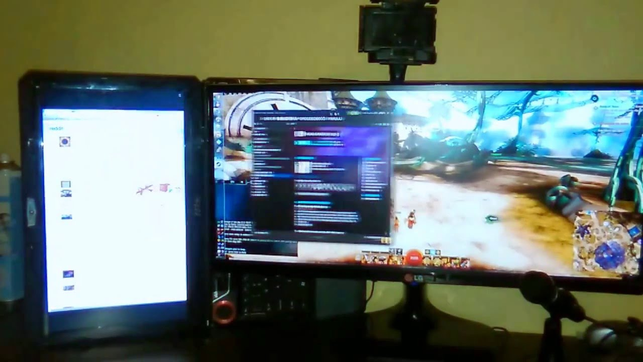 PC and laptop - dual screen over LAN