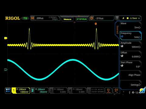 Rigol MSO5000 Oscilloscope: 2-channel AWG Features
