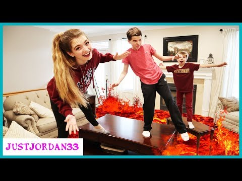 Floor Is Lava Challenge 24 Hours (Kids Edition)/ JustJordan33